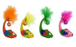 "Papillon ������� ""����� � ��������"", ������ (Latex fish with bell in assorted colours)"