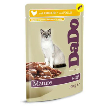 "���� ""����"" �/��������� ����� (�����)  DaDo Mature Cat Chicken (wet pouches)"