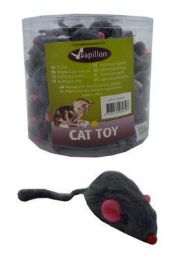 "Papillon ������� ""������� �������"" � �����������, ������� (Furmouse grey with rattle in tube)"