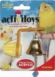 J.W. Игрушка д/птиц - Колокольчик, Small Bell Toy for birds