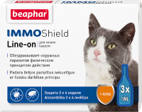 Beaphar капли Vermicon/IMMOShield для кошек