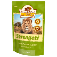 WILDCAT Serengeti senior пауч д/кошек(5сорт мяса)